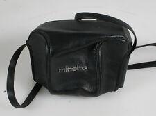 MINOLTA CASE BLACK LEATHER WITH STRAP VINTAGE FOR MINOLTA HI MATIC S CAMERA