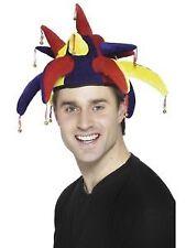 Jester CAPPELLO CON CAMPANE Multi Colore CIRCO Adulti Costume Accessorio