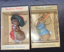 New ListingSchmid Beatrix Potter 1986 Christmas Ornament lot of two