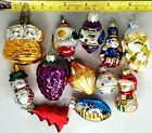 12 Small Christmas Ornaments Different Designs Various Sizes 1 West Germany
