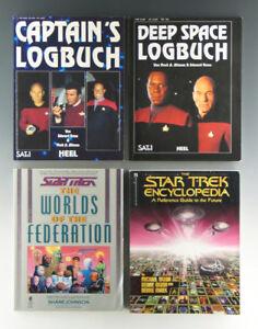 4 verschiedene Bücher STAR TREK um 1989-1994