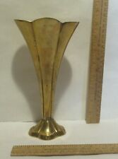 BRASS VASE - Scallop sides and top - MADE IN INDIA