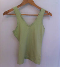 Womens Top Size XS Esprit Cotton Lime Green V-Neck  Straps Cool Summer