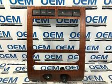 07-14 FORD EXPEDITION center dash radio climate control bezel trim wood OEM