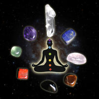 7 Chakra Balance Kit: Raw Natural Quartz Crystal Healing Tumbled Stones W/ Pouch