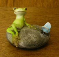 Top Collection Enchanted Story Fairy Garden #4344 FROG RESTING w/ BUTTERFLY