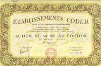 Coder Company  > 1962 Marseille France bond certificate