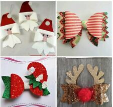 Christmas Bundle Plastic Hair bow templates Santa Elf Reindeer Xmas Cracker