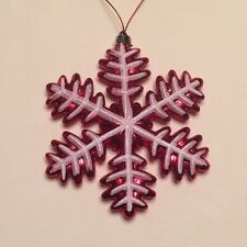 """Red White Snowflake Shatter Proof 5"""" Ornament"""