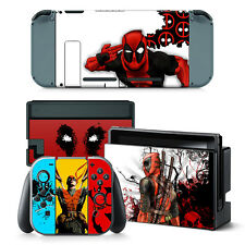 Nintendo Switch Console Joy-Con Skin Decal Sticker DeadPool Custom Design Set
