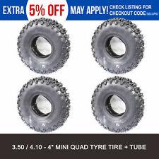 "4 x 3.50/ 4.10- 4"" Inch Tyre Tire + TUBES 47cc 49cc ATV QUAD Bike Gokart Buggy"