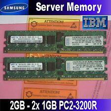 2GB - 2x IBM/Sansung 1GB  PC2-3200R CL3 Matched (M393T2950CZ3-CCC, IBM 38L5093)