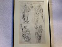 Antique Anatomical Man Print from 1700's to 1800's Framed