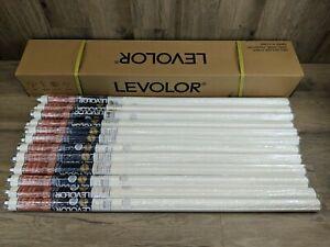 "Set of 12 Levolor 37 1/4"" x 66"" Light Filtering Vinyl Roller Shade White (#163)"