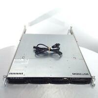 SuperMicro 1U Server Chassis 813M-3 Rackmount Rail HDD Backplane I/O Shield Cord