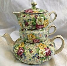 Antique Lord Nelson Chintz Stackable Tea Pot Rose Time DS19