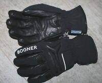 Bogner Herren Teil Leder Ski Handschuh HAIMO Schwarz Größe 8,5 S M Neu