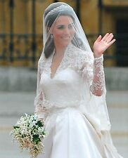 "Catherine ""Kate"" Middleton Duchess Of Cambridge 8x10 Glossy Wedding Dress Photo"