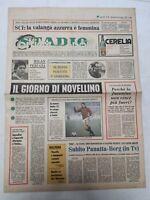 CORRIERE DELLO SPORT 29-11-1978 PERUGIA MILAN NOVELLINO UNDER 21 PANATTA-BORG