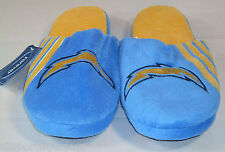NFL STRIPE LOGO SLIDE SLIPPERS Los Angeles Chargers Large