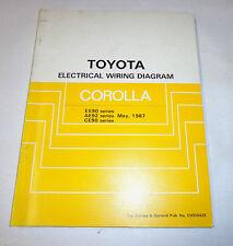 Workshop Manual Eletrical Wiring Diagram / Werkstatthandbuch Toyota Corolla,1987