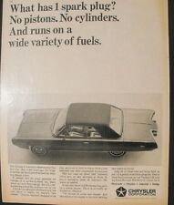 1964 Chrysler Experimental Turbine Car 10 1/2 x 12 3/4 Art Promo Print Trade Ad