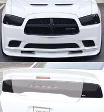 11-14 Dodge Charger GTS Smoke Acrylic Headlight Taillight Covers Protection 4pc