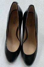 New MICHAEL Michael Kors Leather Slip-On Pump Heels Black SZ 6.5M
