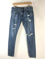 AG Adriano Goldschmied Women's 26R Nikki Relaxed Skinny Distressed Jeans EUC