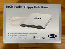 """LaCiE Pocket 3.5"""" Floppy Disk Drive USB Plug and Play In Box Barely Used"""