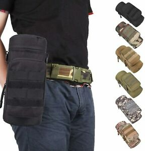 Tactical Military MOLLE Water Bottle Pouch H2O Hydration Carrier Holder