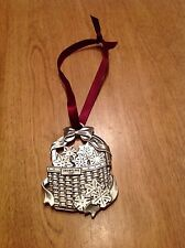 Longaberger USA Snowflake Metal Medallion Ornament Double Sided 1997 & 2002