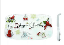 Lenox 12 Days Of Christmas Cheese Plate with Knife New In Box