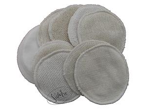 Stilleinlagen, Wolle/Seide, Molton,  2-lagig, 3-lagig, Öko, neu