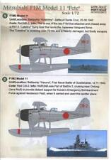 "Print Scale Decals 1/72 MITSUBISHI F1M MODEL 11 ""PETE"" Japanese Floatplane"