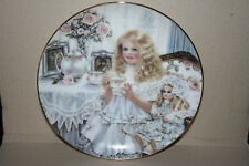 "Heirlooms & Lace Series 2nd Issue ""Victoria"" Fine China Plate Girl Antique Doll"