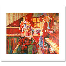 """Sophie Swerdlow """"Two Couples At The Piano"""" Giclee on Canvas H/S 18/250"""