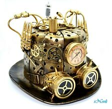 Steampunk Top Hat Goggles and Gauge Masquerade Halloween Burning Man Cosplay