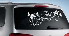 Autoaufkleber HOCHZEIT Aufkleber Just Married EHE Braut & Bräutigam Sticker 014