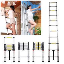 3.2m Multi Purpose Aluminium Telescopic Ladder Extension Extendable 11 Steps