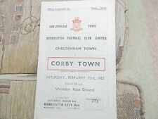 Cheltenham Town v Corby Town   Southern League 1st Div   23rd February 1963