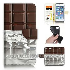 ( For iPod Touch 6 ) Wallet Flip Case Cover AJ40145 Chocolate