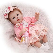 "Bambole Real Life Newborn Baby 18 ""Reborn Baby Doll Handmade Soft Vinyl Doll"