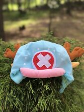 Anime One Piece Tony Chopper Cosplay Plush Hat Gifts Light Blue Halloween Hat