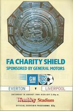 EVERTON F.C V LIVERPOOL F.C 1984 F.A. CHARITY SHIELD MATCHDAY PROGRAMME