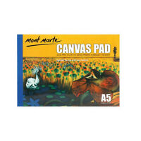 Canvas Pad A5 White 10 Sheets Mont Marte Paper Atrist Painting Art Supply