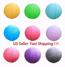 Assorted Chinese round Multi-color paper lantern wedding party hang decoration