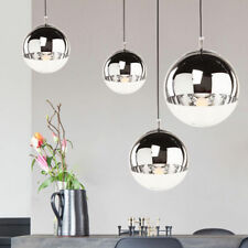 Glass Ball Mirror Chrome Lampshade Chandelier Pendant Ceiling Light Dia.20CM