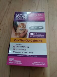 Comfort Zone 2 Pack Cat Calming Pheromone Collar for Cats   De-Stress Your Cat  