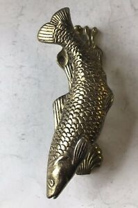 "Vintage Rare Fish Trout Door Knocker - Cast Iron - Length 5.5"" (AQ1089)"